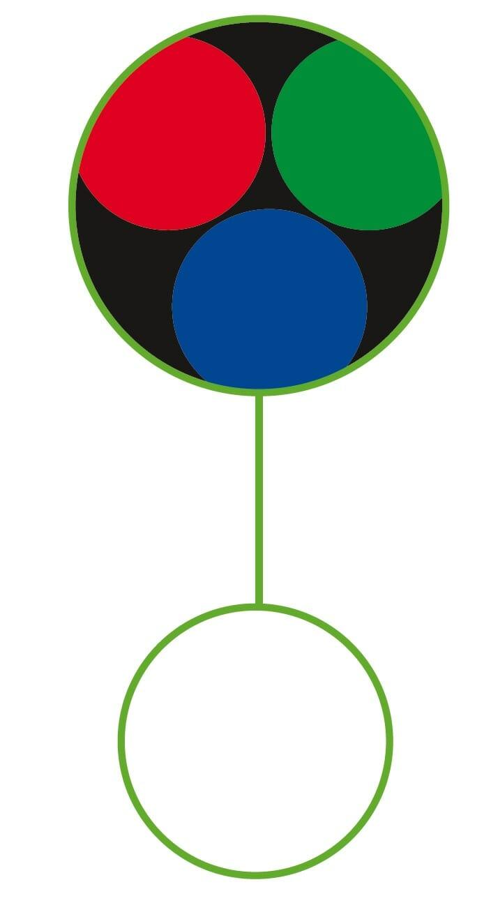 Bild über Raster von LCD-Monitore für den Artikel Wahrnehmung und Farbe.
