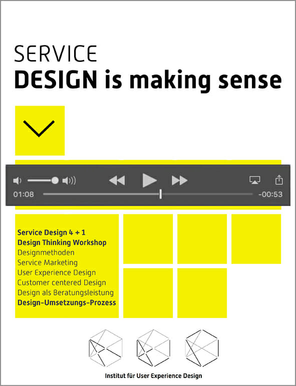 Videoprototypes aus dem buch ebook service design is for Buch design