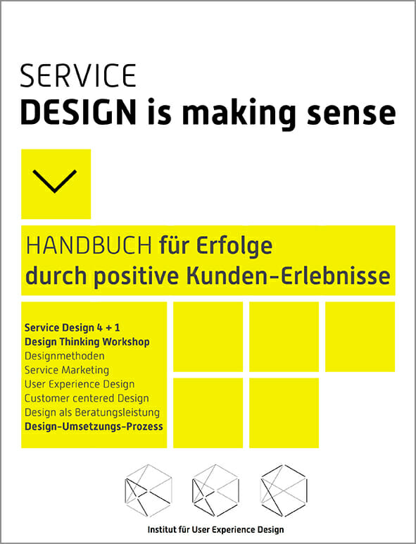 Methoden service design thinking institut f r user for Buch design