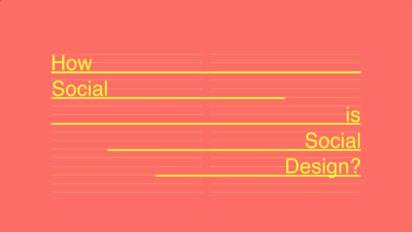 Müssen Designer die Welt verbessern – definitiv Nein