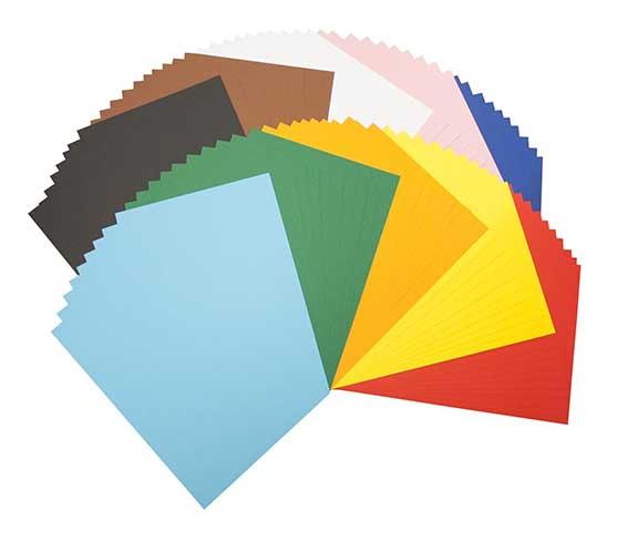 Farbige Pappen