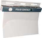 Folio Contact Whiteboard, elektrostatisch geladene Folie, die ohne Hilfsmittel an allen glatten Oberflächen haftet.