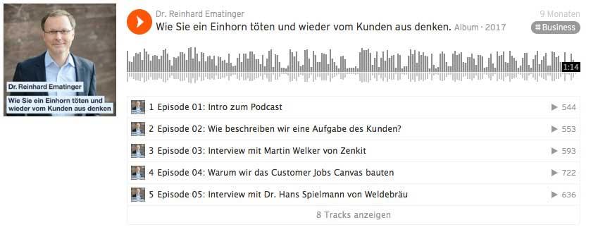 Dr. Reinhard Ematinger mit einem Podcast bei Soundcloud.