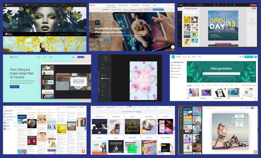 Bildbearbeitung Canva Design Grafik-Tool Social Media Post